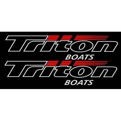"com: Triton Boats Watercraft Pair of Decal Stickers 3"" Tall X 18"" Wide"