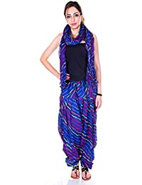 Kismat Collection Women's Pure Cotton Printed Patiala & Duppta Sets (Free Size) - B01L6SFHIO