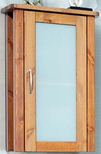 Hngeschrank-Badezimmer-Schrank-Massivholz-Kiefer-massiv-Honigfarben-lackiert-Badschrank-Apothekerschrank