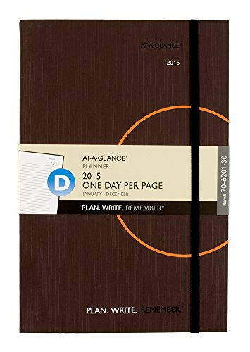 AT-A-GLANCE Plan. Write. Remember. Planning Notebook 2015, 5.62 x 9 Inch Page Size, Warm Gray (70-6201-30)