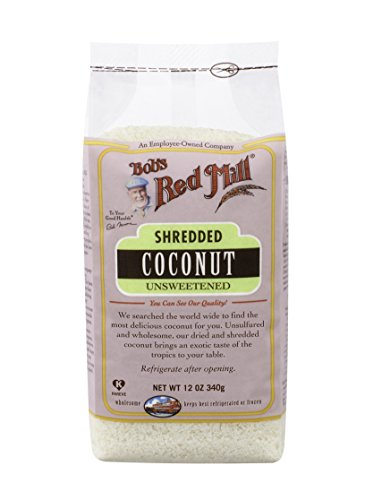 Bob's Red Mill Shredded Coconut Unsweetened, 12-Ounce Bags (Pack of 4)
