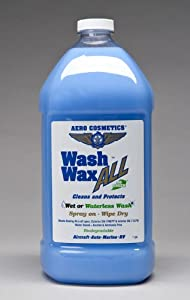 Wash & Wax ALL Waterless Car Wash and Wax Gallon by Aero Cosmetics