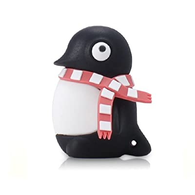 4GB PENGUIN with Red Scarf USB Flash Memory Drive from JellyFlash