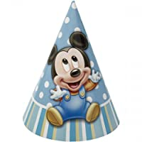 Mickey's 1st Party Hats - 8 Hats per Package by Amscan