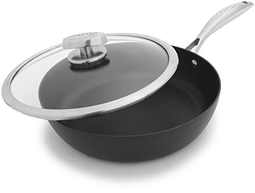 Scanpan PRO IQ Nonstick Covered Saute Pan, 2.75 quart, Black
