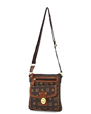 Brown Signature Faux Leather Hipster Purse for Women: Handbags: Amazon