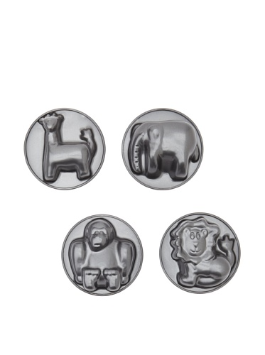 Kaiser Kinder Animal Shape Baking Pan 4 piece Set - Lion, Giraffe, Elephant, Gorilla