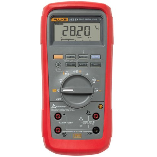 Fluke-28IIEXETL-Intrinsically-Safe-True-Rms-Digital-Multimeter-LCD-Display-200-to-1090-Degrees-C-Temperature-Range-78-Length-x-393-Width-x-25-Height