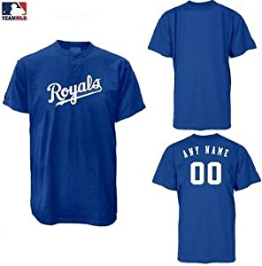 Kansas City Royals 2-Button (CUSTOM or Blank Back) MLB Licensed Authentic Replica... by Authentic MLB Sports Shop