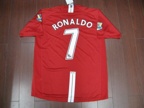 08-09 MANCHESTER UNITED HOME JERSEY RONALDO + FREE SHORT (SIZE XL)