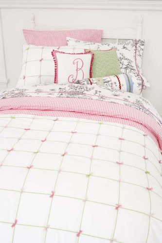 Whistle & Wink Pink Gingham Check Standard Pillowcase front-594258