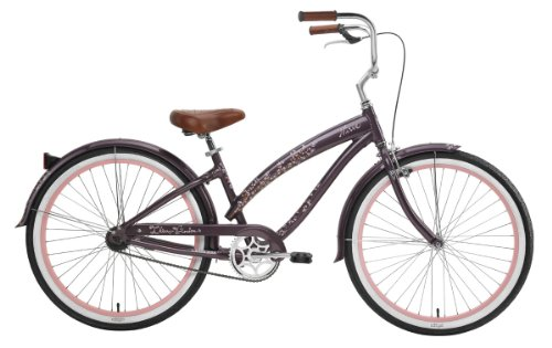 Nirve Cherry Blossom Ladies 1 speed Bicycle (Mocha)