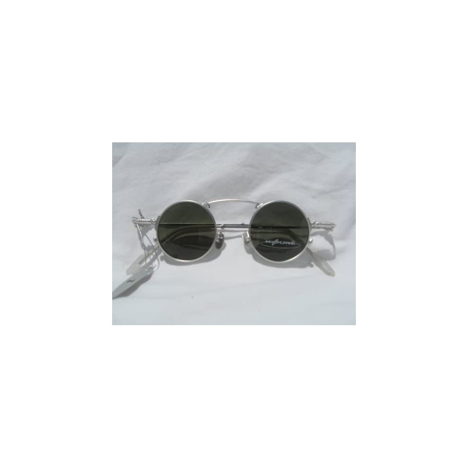 2d8ad55f77 SILVER 1920s Style Small Round KOURE SUNGLASSES   Model  8104   New In Box  with Cleaning Cloth   Vintage Retro Style Mens Womens