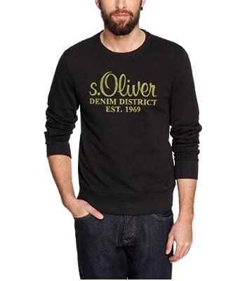 s.Oliver Herren Sweatshirt 08.312.41.7589, Gr. 52/54 (XL), Schwarz (9999)