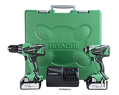 Hitachi KC18DBFL 18-Volt Lithium-Ion Brushless Hammer Drill & Impact Driver Combo Kit (3.0Ah)