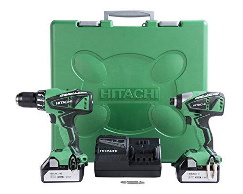 Hitachi-KC18DBFL-18-Volt-Lithium-Ion-Brushless-Hammer-Drill-Impact-Driver-Combo-Kit-30Ah