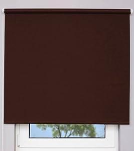 Verdunklungsrollo ~ Farbe schokobraun ~ Größe 220x190cm (Stoffbreite x Höhe)~ weitere StandardGrößen im Angebot wählbar   Kundenbewertung: