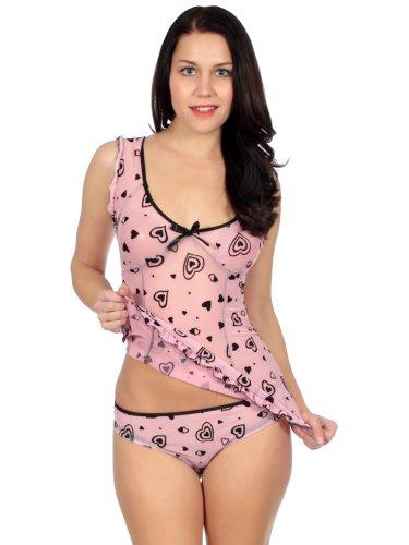 Simplicity Sexy Women Shoulder Straps Sleepwear Dress Set Babydoll Lingerie