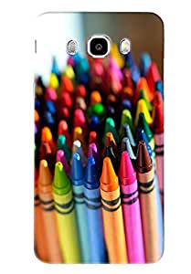 Omnam Cover Made Of Colored Pencil Printed Designer Back Cover Case For Samsung Galaxy J5 (2016)