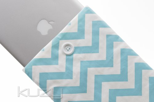 =>>  Kuzy - 13-inch Light BLUE Chevron Cotton Sleeve Handmade Cover for MacBook Pro 13-Inch (with or w/out Retina Display) and MacBook Air 13-Inch - Light Blue 13.3-inch