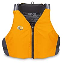 MTI Adventurewear Journey PFD Life Jacket (Mango, Small/Medium)