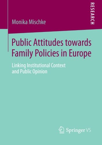 Public Attitudes toward Family Policies in Europe: Linking Institutional Context and Public Opinion