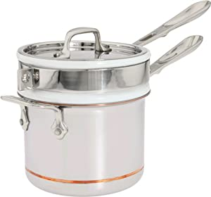 All-Clad 62025SS Copper Core 5-Ply Bonded Dishwasher Safe Porcelain Double Boiler Insert... by All-Clad