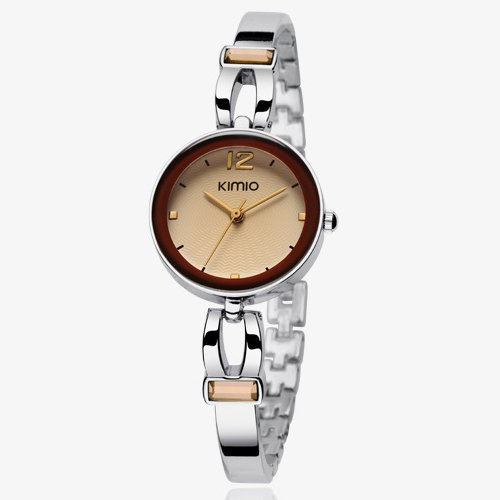 Ufingo-Korean Fashion Stylish Luxury Bracelet Wrist Watch For Women/Ladies/Girls/Students-Brown