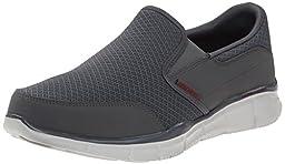 Skechers Sport Men\'s Equalizer Persistent Slip-On Sneaker, Charcoal, 12 XW US