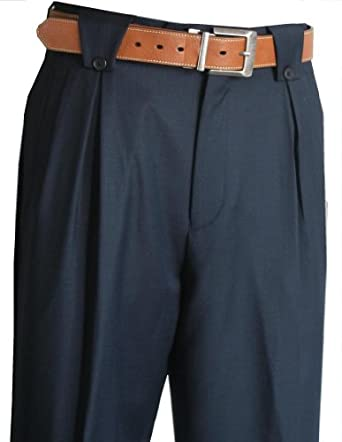 1940s Style Men's Pants and Trousers Wide Leg Mens Pants Navy $99.00 AT vintagedancer.com