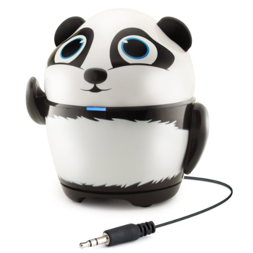GOgroove Groove Pal Panda Kid-Friendly Animal Speaker w/ Rechargeable Battery & Portable Design for Smartphones , Tablets , MP3 Players & More