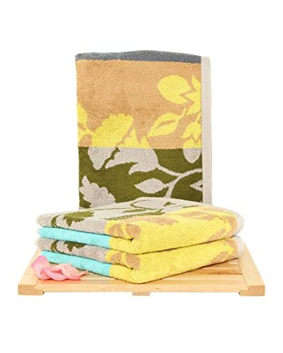 Maisonette Fenja 3-Piece Hand Towel Set, Mustard