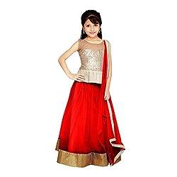 Najara Fashion fancy material traditional semi-stitched lahenga choli (njc002 8-9 yr)