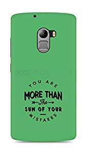 AMEZ you are more than the sum of your mistakes Back Cover For Lenovo K4 Note