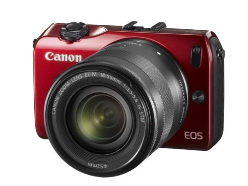 Canon EOS M Mirrorless Digital Camera with EF M 18 55mm f/3.5 5.6 IS STM Lens (Red) Reviews 41q7YtHaC7L