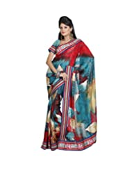 Triveni Fancy Saree With Unstitch Blouse - 11008