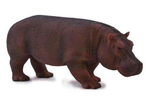 Mojo Fun 387104 Female Hippopotamus - Realistic International Wildlife Toy Replica