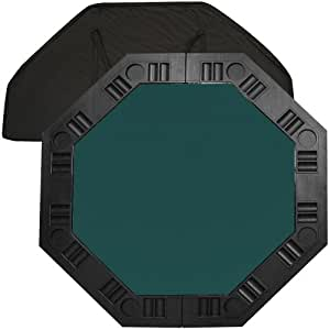 Trademark Poker 48-Inch 8-Player Octagonal Poker Tabletop (Dark Green)