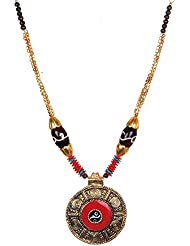 Twella Creations Multicoloured Metal Beads Necklace For Women TC_031