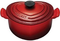 Le Creuset Enameled Cast-Iron 2-Quart Heart Casserole, Red