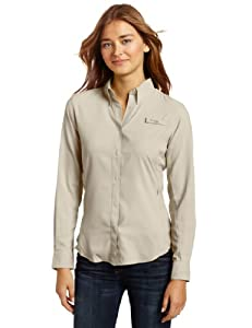Columbia Women's Tamiami II Long Sleeve Shirt, Fossil, Small