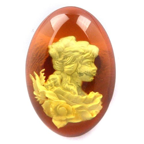 Genuine Baltic Cherry Amber Cameo