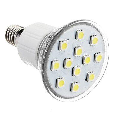 M.M E14 2W 12X5050Smd 90-100Lm 6000-7000K Natural White Light Led Spot Bulb (230V)