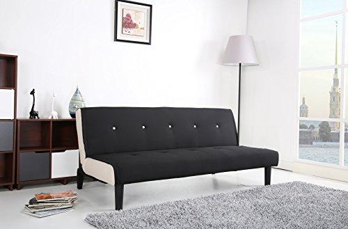 Paulo-Schlafcouch-Stoff-schwarz-wei-Schlaffunktion-Sofa