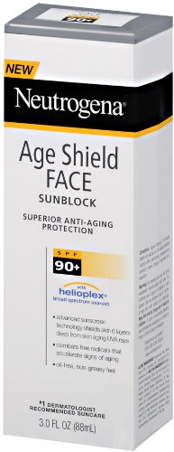 Neutrogena Age Shield Sunblock Face, SPF 90, 3 Fluid Ounce (Pack of 2)