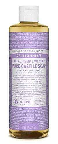 Dr. Bronner's Fair Trade & Organic Castile Liquid Soap - (Lavender, 16 oz)