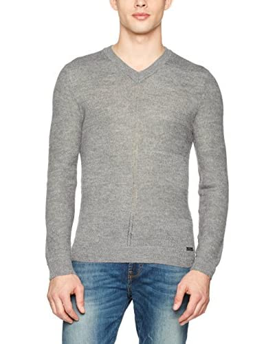 Guess Pullover Ls Vn Giacomo [Grigio Melange]