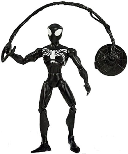 Spiderman Animated Action Figure - Super Articulated Black-Suited Spiderman
