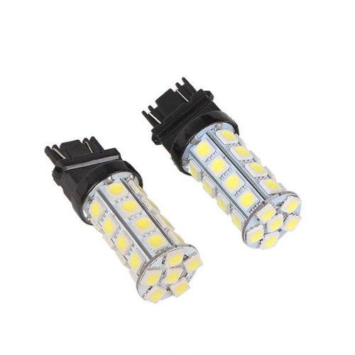 Generic Led 3157 30Smd 5050 Car Tail Brake Stop Light Bulb Lamp 6000-6500K White Pack Of 2