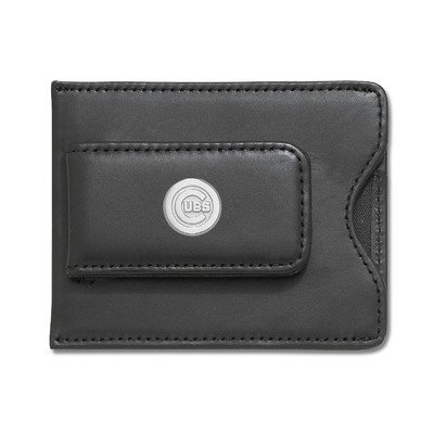 MLB Logo Black Leather Money Clip / Credit Card / ID Holder MLB Team: Chicago Cubs at Amazon.com